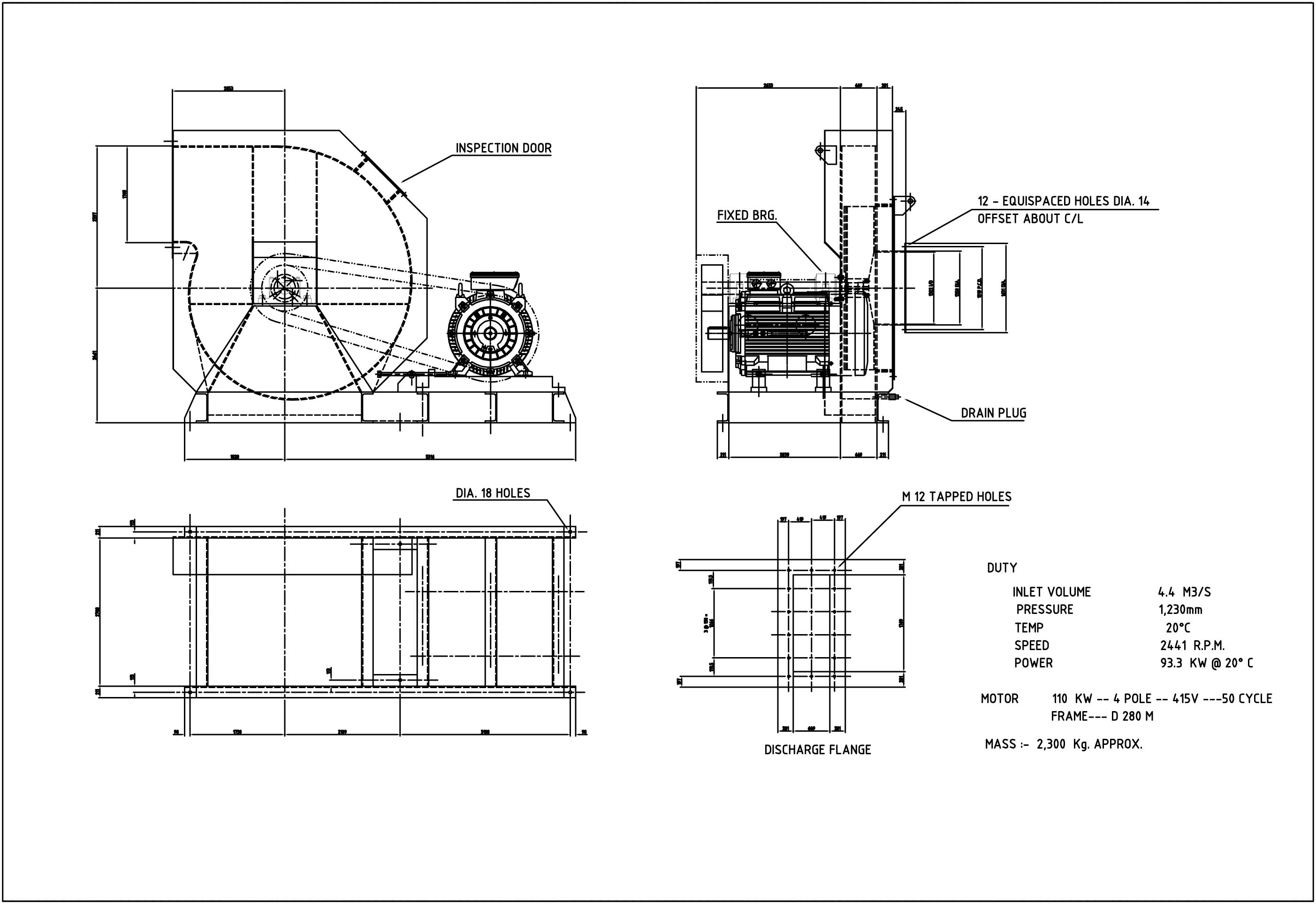 Centrifugal Fan Design : Cadprecision mechanical design and drafting portfolio